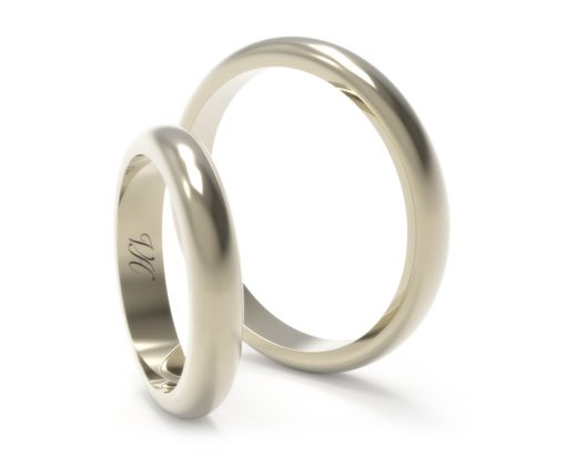 Argollas de matrimonio Corte Ingles 3mm oro blanco 3